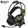 SADES SA931 Камуфляж Gaming Headset Stereo Sound Mac Наушники fone де ouvido + Микрофон для ПК PS Телефон Ноутбук Gamer Гарнитура EJ04