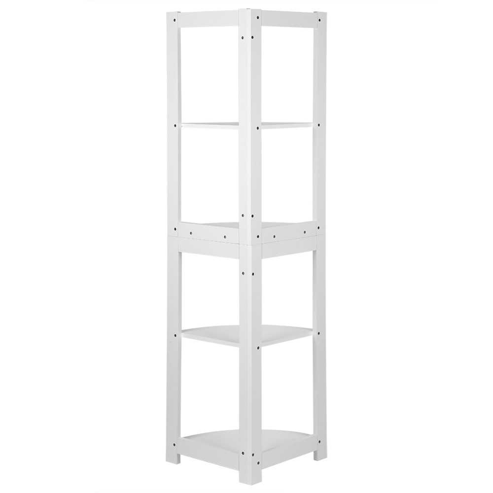 5-tier Corner Bookshelf Storage Cabinet Bookcase Rack Organizer Cd Book Decor New Bathroom Hardware