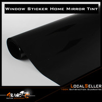 19 x 393 50cm x 1000cm Car Window Film One Way Mirror Black Insulation Stickers Solar Reflective Home Decoration Supplies