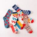 2017 Зима полный хлопчатобумажные носки личности женщин носки высокого качества хлопчатобумажные носки мягкие удобные мода стиль женские носки