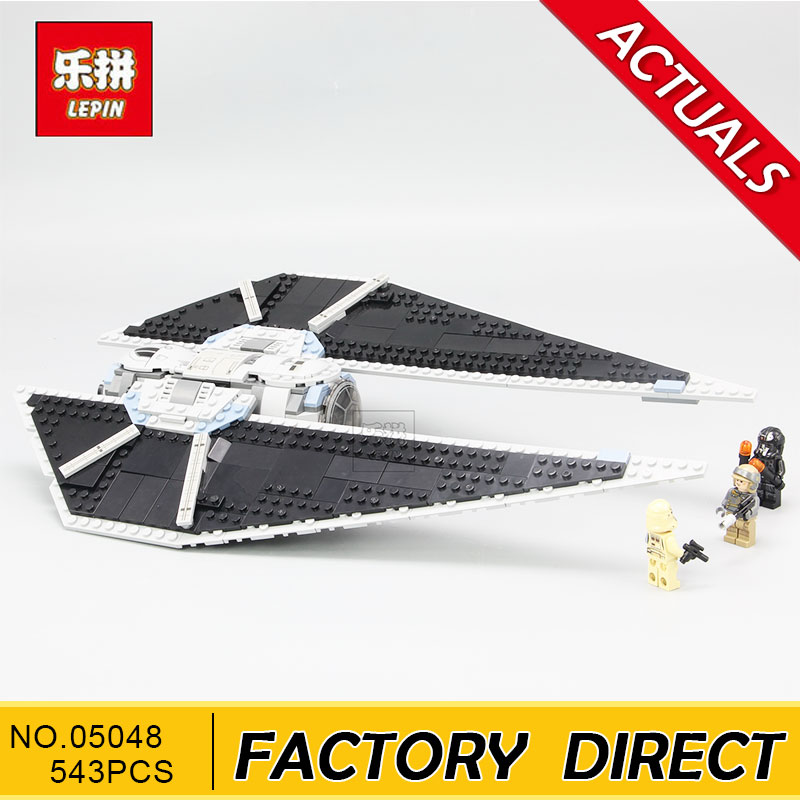 Lepin 05048 Star Classic Model Wars 543Pcs The TIE Striker Building Blocks Bricks Toys Compatible with 75154 children Gift kazi 608pcs pirates armada flagship building blocks brinquedos caribbean warship sets the black pearl compatible with bricks