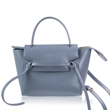 купить 2018 Women Large Big Genuine Leather Handbag Wing Bag Trapeze Handbag Elegant Lady chain Belt Shoulder Bag Crossbody Bag дешево