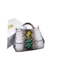 Сумки женские роскошные сумки 2019 женские сумки на плечо полная луна яркие цвета сумки для женщин сумки Змеиная кожа модные дизайнерские сум