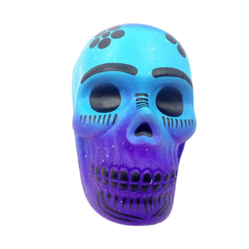 Amazing Exquisite Funny Galaxy Skull Scented Squishy Charm Slow Rising 10cm Kid interesting Antistress toys Gift funny gadgets