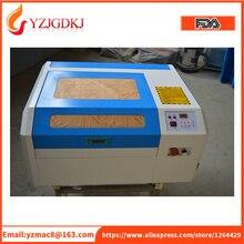 Ücretsiz kargo 4040 co2 lazer oyma makinesi diy mini 40 w lazer kesme makinesi kesme kontrplak Coreldraw destek