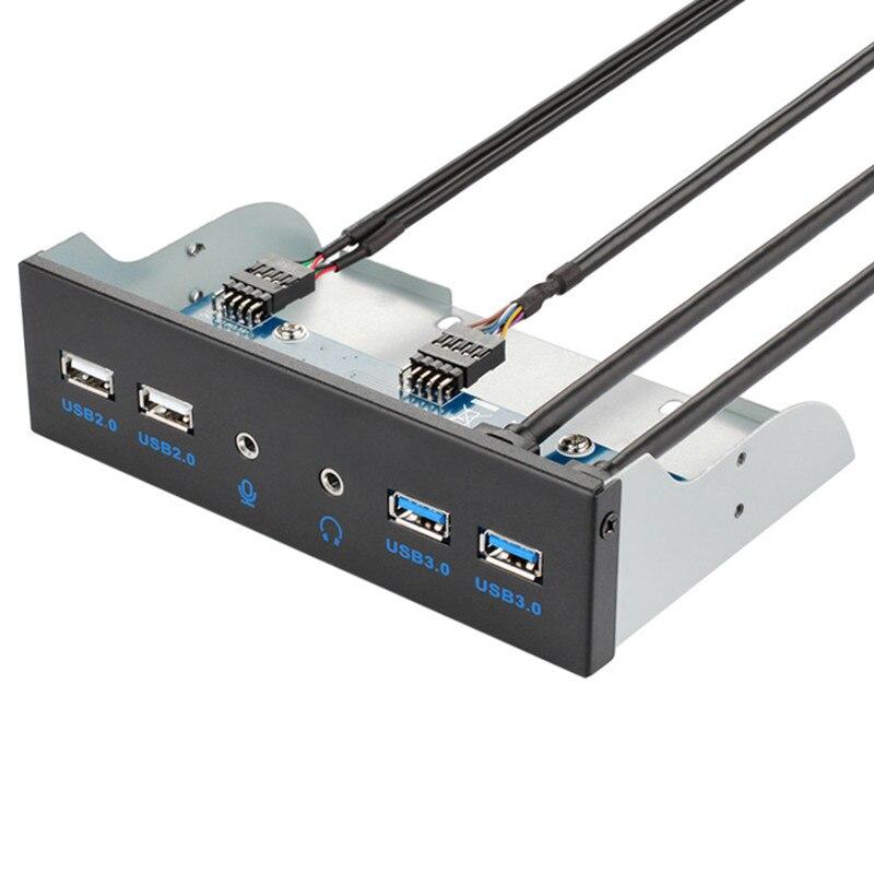 5,25 pulgadas PC de escritorio interna Panel frontal Hub USB 2 puertos USB 3,0 y 2 puertos USB 2,0 con HD Audio Puerto 20 Pin conector