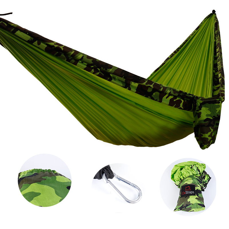 New Outdoor Camping Camouflage Double Hammock Portable Ultra Light Outdoor Furniture Garden Swing Student Dormitory Soft Bed