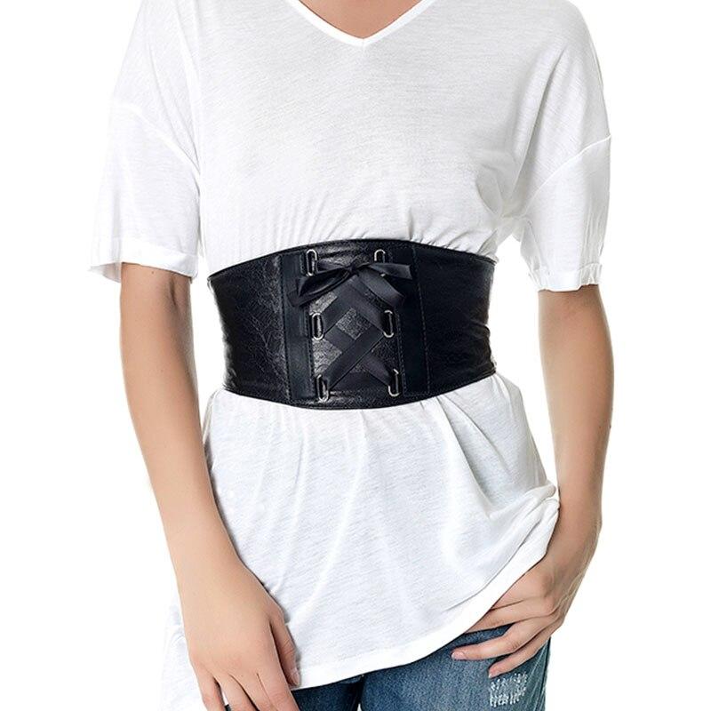 Belt Cummerbunds For Women Brand Waist Black Belts Fashion Lady Stretch Elastic Wide Belt Dress Adornment For Women Waistband