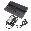 HB-8H-18650-A Universal 8 Slot Battery Charger For AA AAA 18650 Intelligent Rechargeable Battery Charger US/EU Plug Type