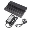 Hb-8h-18650-a slot 8 carregador de bateria universal para aa aaa inteligente 18650 carregador de bateria recarregável eua/ue ficha do tipo