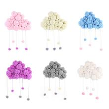 Hand Made Pillow Kids Room Decoration Raining Clouds Water Drops For Children Decor