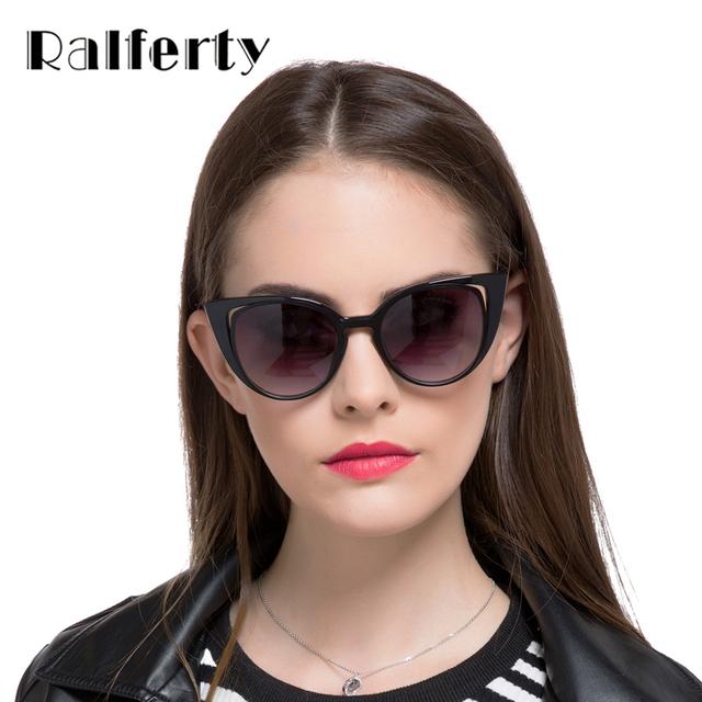 2017 Luxury Brand Designer Cat Eye Sunglasses Women Vintage Cateye Gradient Female Retro Sun Glasses Black oculos gafas
