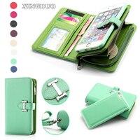 Luxury Card Zipper Detachable Handbag Coin Wallet Case For IPhone 7 6S Plus SE 5 5S