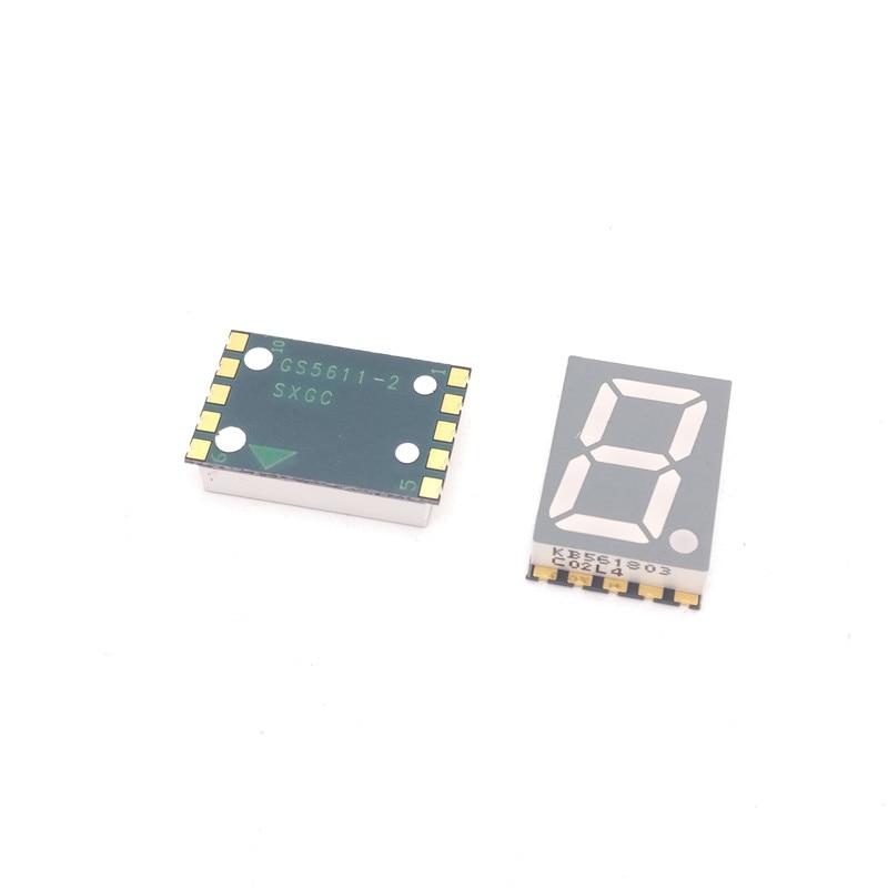 10pcs  SMD Digital Tube Yellow-green 1 Digit LED Display Module 0.56 Inch 7 Segment Digital LED Common Cathode/Anode