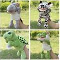 Venta caliente Zebra Hippo Tortuga Cocodrilo Rhinocer Muñeca Marioneta de Peluche primeros Juguetes Educativos Regalos de Juguetes Marionetas de Mano Caliente Para El Bebé niños