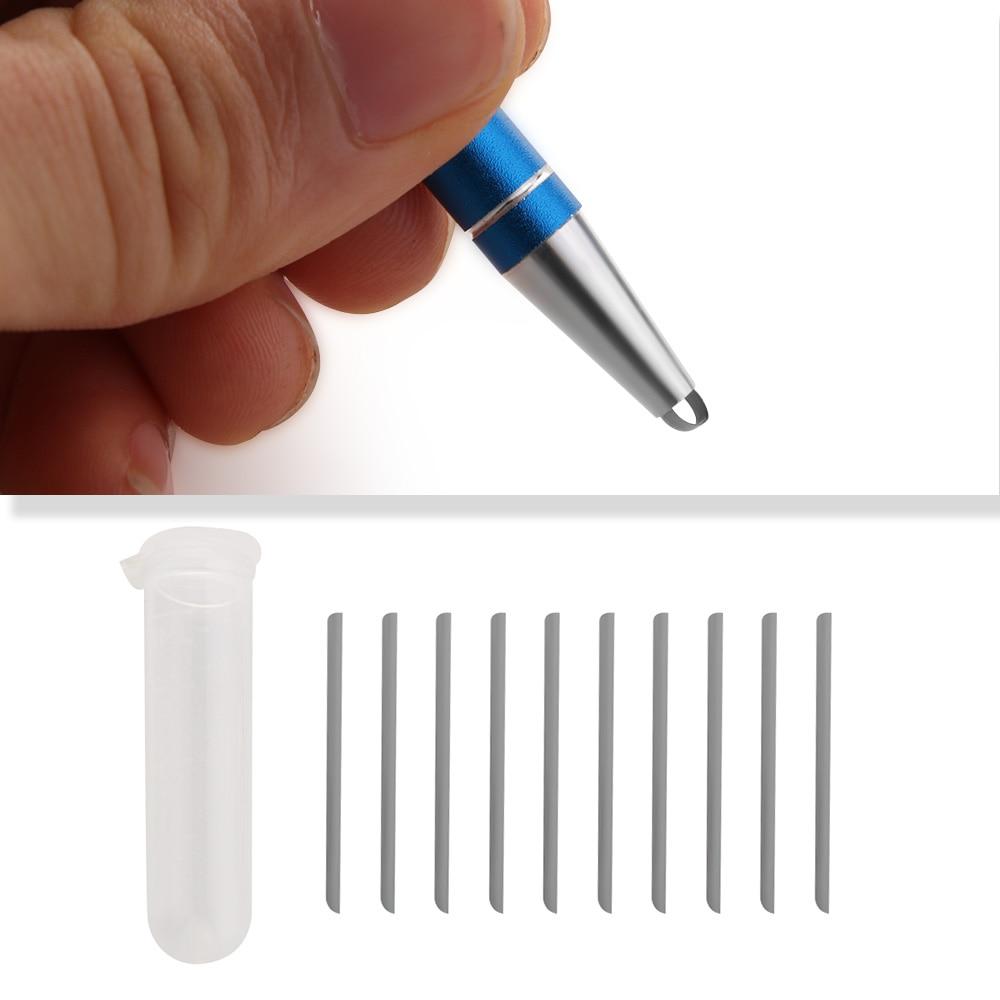 1Pcs DIY Professional Hair Care Styling Eyebrow Beard Salon Engraved Pen 10 Blades Eye Brow Hair Shaving Accessories 5