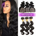 Peruvian Virgin Hair Body Wave With Closure 3 Bundles Peruvian Virgin Hair With Closure Human Hair With Closure Free Shipping