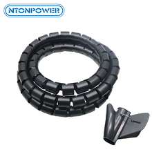 NTONPOWER Soporte de Cable enrollador de Tubo en espiral Flexible, organizador, Protector de Cable, tubo de almacenamiento para gestión de cables cortable