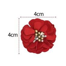 20pcs/lot 4cm Felt Plum Blossom Flower DIY Handmade Ornament For Baby Girls Headband Decoration Accessories MOMLOVEDIY