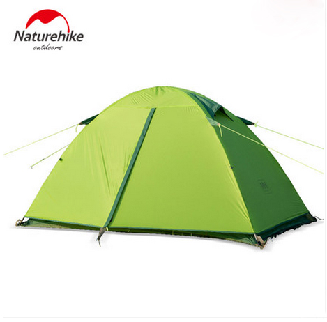 Naturehike Ultralight Outdoor Hiking Camping Tent 20D Sillicone Fabric Tents for 2 Person NH15Z006-P high quality outdoor 2 person camping tent double layer aluminum rod ultralight tent with snow skirt oneroad windsnow 2 plus