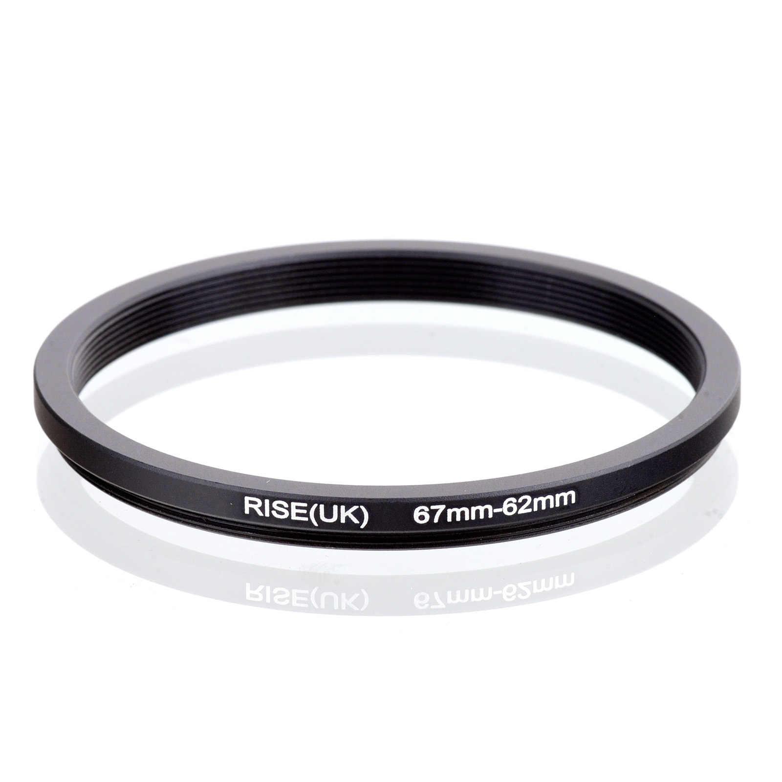 RISE (UK) 67 millimetri-62 millimetri 67-62mm 67 a 62 Step down Anello Adattatore Filtro Nero