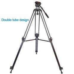 JIEYANG JY0508 JY-0508 JY0508B Aluminum Professional Tripod for camera stand / DSLR video tripods / Fluid Head Damping