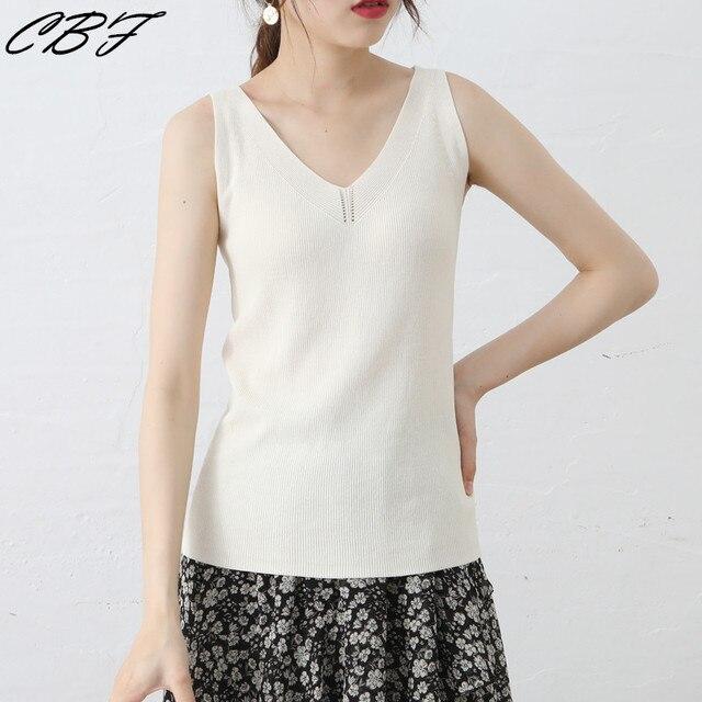 2019 Phụ Nữ Mùa Hè đan Linen vest màu Tinh Khiết Strip phong cách tính thấm khí Tốt Ngạc mát chất lượng cao Dệt Kim sling