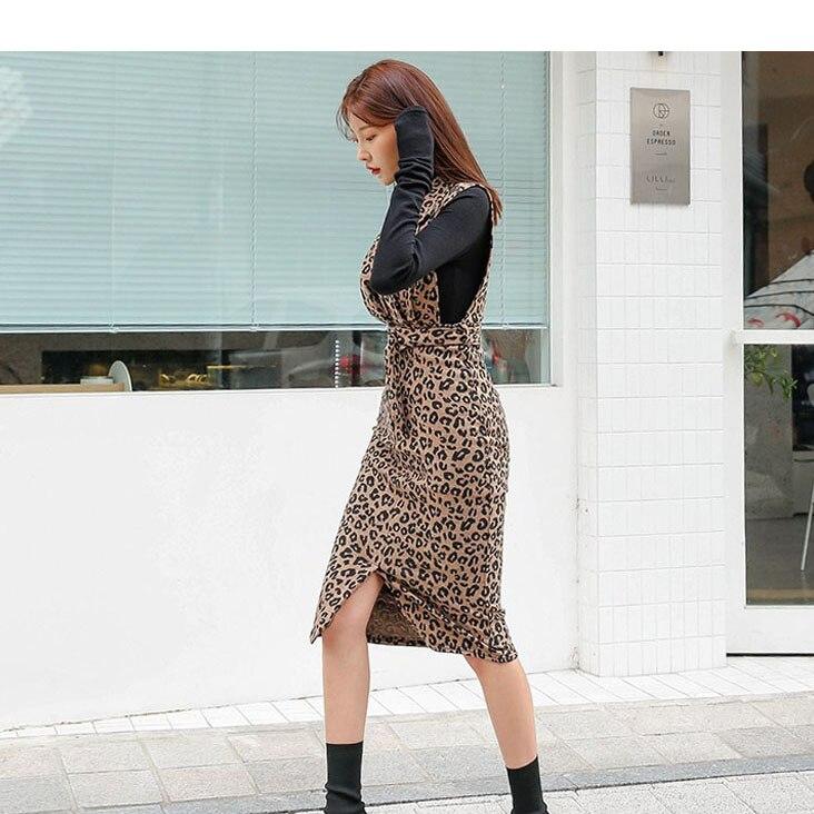 2019 Donne Polpaccio Nuovo Vestiti Eleganza D8d412i E Calde Metà Fiocchi Con Modo Fasce Spring Lunghezza Leopard Intaglio Vendite Delle Leopardo Sexy Arrivo Del Sottili Di rtrzgwqH8