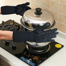 BBQ Grill Heat Resistant Gloves  500 Degree Fireproof Microwave Insulation Bake Silicone Non-slip Flame Retardant Gloves 500 degrees heat insulation gloves high temperature resistant gloves to hot flame retardant aluminum foil meta aramid fire luvas