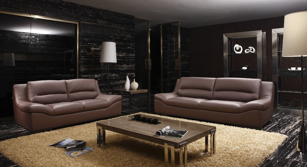 2 couch living room cow genuine real leather sofa set living room sofa 15698