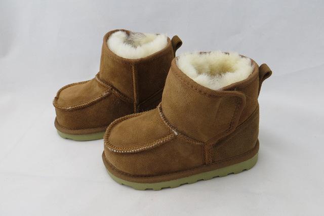 Invierno antideslizante botas de suelas De Goma botas de nieve niño zapatos calientes de la felpa de lana zapatos de bebé de la nieve botas niños botas de nieve botas