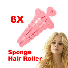 6 Pcs New Magic Hair Salon Care Roller Sponge Curlers Hair Styling Hair Roll Rollers DIY Tools for Women  HS11