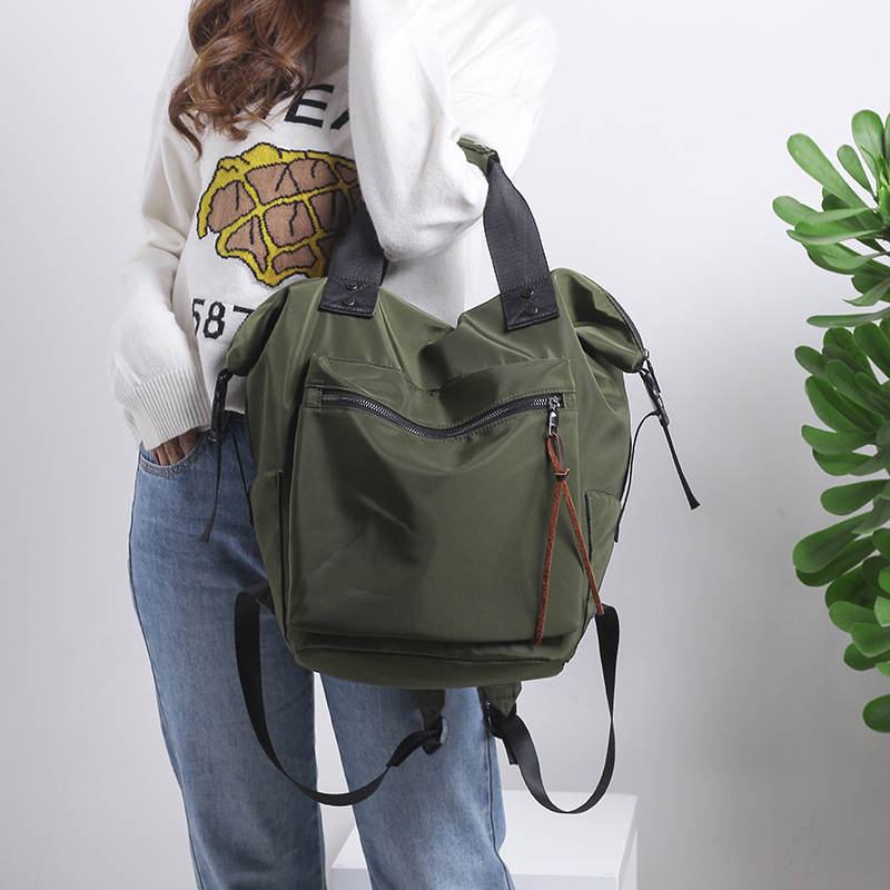 HTB1CbKQcqagSKJjy0Faq6z0dpXaM 2019 Nylon Backpack Women Casual Backpacks Ladies High Capacity Back To School Bag Teenage Girls Travel Students Mochila Bolsa