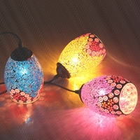 Color Mosaic Bohemia Restaurant Cafe Bar Aisle Balcony Retro Mediterranean Creative LED Pendant