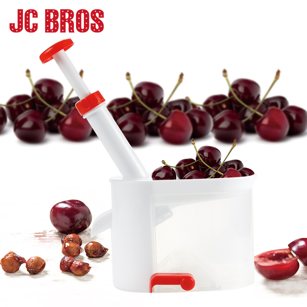 JC BROS Cherry Seed Remover Machine Cherry Pitter Stone Picker Cherry Corer With Container Kitchen Gadgets Tools Accessories