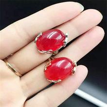 887eedaafab5 KJJEAXCMY fina joyería de plata pura 925 naturales jade rojo médula anillo  embutido joyería gotas de agua caída flores silvestre.