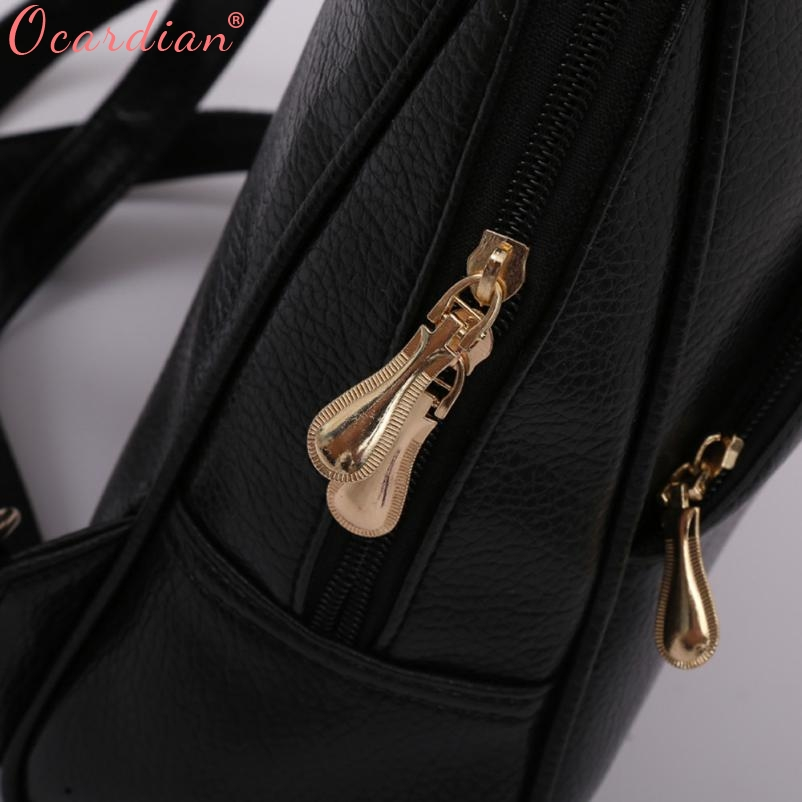 Ocardian Women Backpack Leather Backpacks Softback Bags Brand Name Bag Preppy Style Bag Casual Backpacks Teenagers Backpack X99 #6