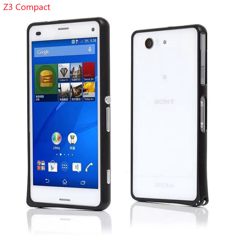 case For sony xperia Z3 compact case 4.6 inch Buckle Alloy Aluminum Bumper Frame Metal Cover For Sony Z3 Compact bumper Z3 Mini