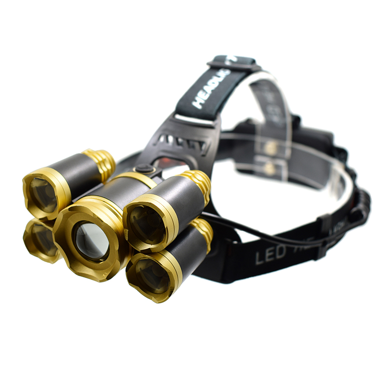 12000 LM T6 Headlamp Powerful Led Head Flashlight High Quality Telescopic Zoomable XML Head Light Lamp 18650 Battery Torch