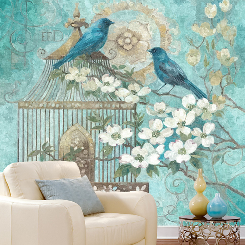 Custom photo wallpaper bird cage painted large mural American living room TV background wallpaper bedroom wallpaper mural book knowledge power channel creative 3d large mural wallpaper 3d bedroom living room tv backdrop painting wallpaper