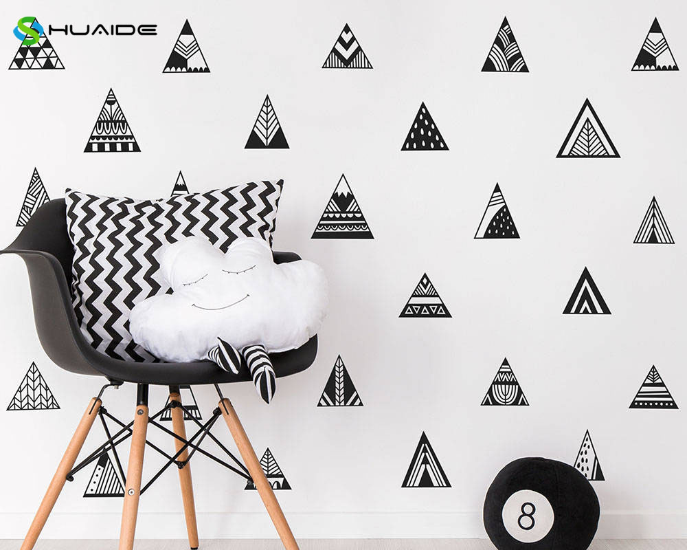 Aliexpress buy nordic style 33pcs mountain wall decals aliexpress buy nordic style 33pcs mountain wall decals geometric triangle tribal vinyl wall stickers for kids room nursery christmas decor a727 from amipublicfo Gallery