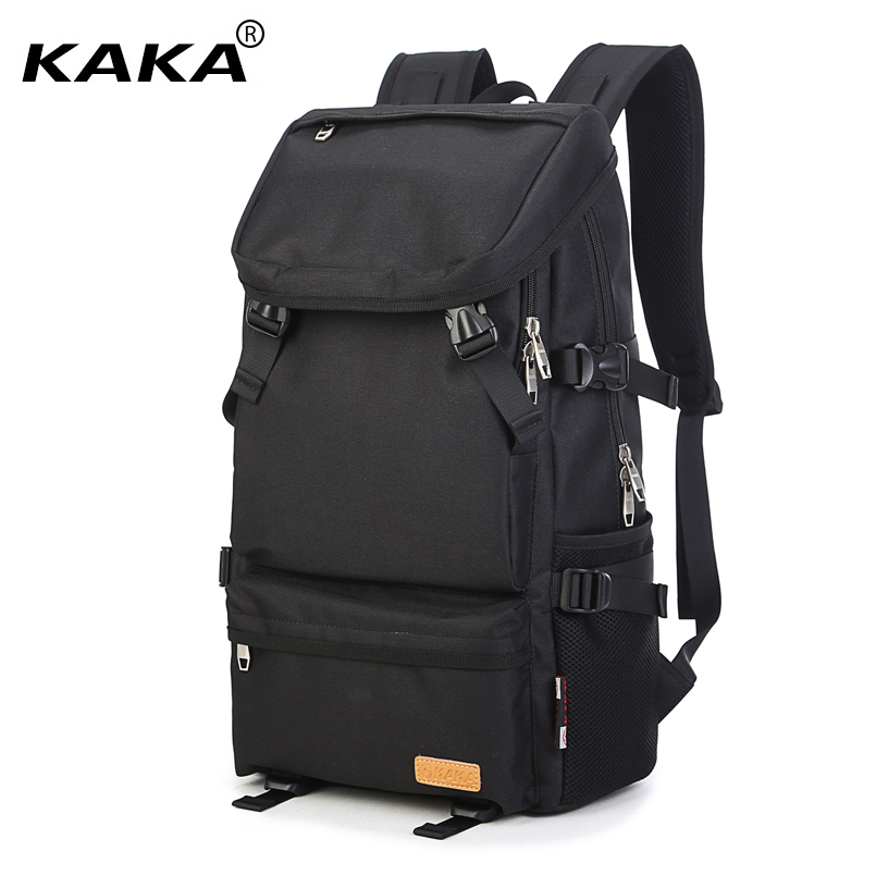 2018 KAKA Unisex Waterproof Laptop Backpacks Women Shoulder Bags Casual Men Students School Backpacks for 16 inch Laptop Black