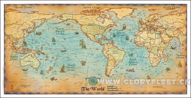 Large Hd Vintage World Map Classrooms Office Home Decoration