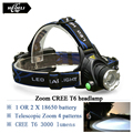 Powerful cree xml t6 led headlamp lanterna de cabeca led rechargeable flashlight hoofdlamp camping daily work headlamp