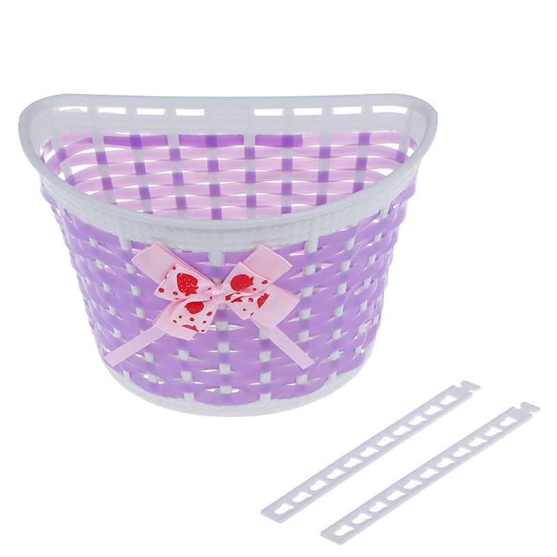 Bike Bowknot Front Basket Bicycle Basket Front Bag Rear Hanging Basket Panniers For Children Girl Gifts Cycling Accessories