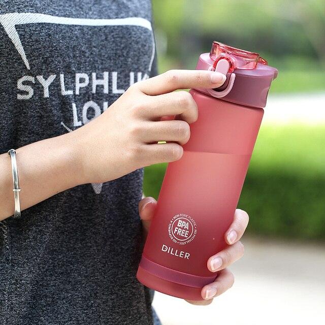 Plastic Sport Water Bottle With Straw Leakproof Water Bottle Portable Scrub Space Cup Tritan BPA Free 3
