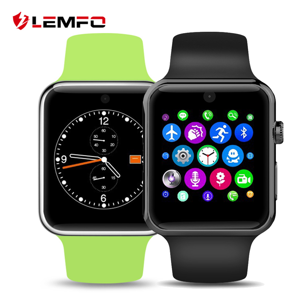 LEMFO LF07 Bluetooth Smart Watch 2.5D ARC HD Screen Support SIM Card Wearable Devices SmartWatch For IOS Android Phone 2016 bluetooth smart watch dm09 hd screen support sim card wearable devices smartwatch for ios android pk dm08 gt08 dz09
