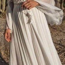 فستان بوهو انيق بأكمام طويلة ماكسي موديل الخريف