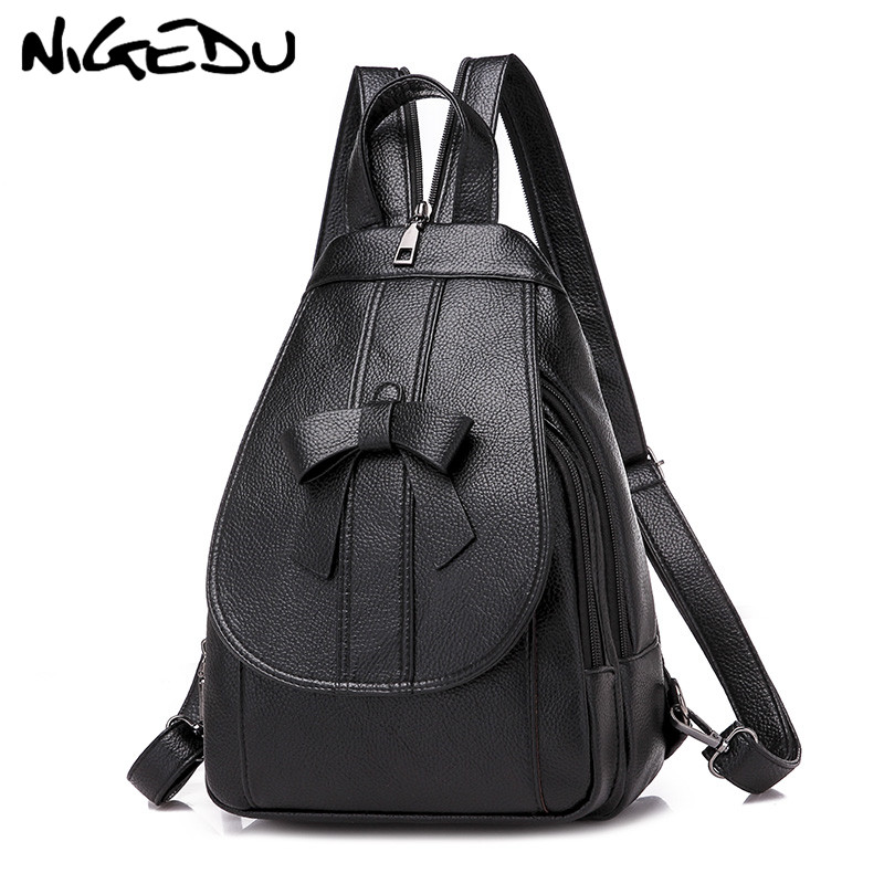 Fashion Bow Women Backpack small PU Leather multifunctional backpack female shoulder bag Girl Chest bag travel Rucksack 2018 RedFashion Bow Women Backpack small PU Leather multifunctional backpack female shoulder bag Girl Chest bag travel Rucksack 2018 Red