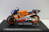 Diecast Toy Model 1:24 Ratio HONDA NSR600 3# Motorcycle Racing Vehicles Model for Boy Gift,Collection,Decoration